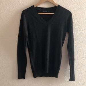 The Limited Chocolate Brown V-Neck Sweater, Size M